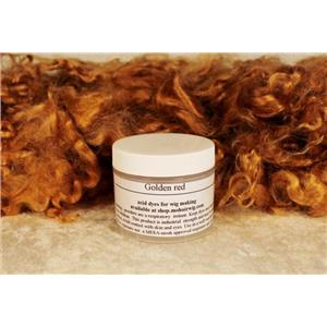 Golden Red  Wig making dye Jar,will Dye 1 lb mohair 10141