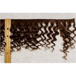 "Yak hair weft Brown 6 wavy fine yak  double row 6-8"" x 100 "" 25484 FP"