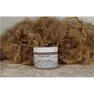 Blondest gold Wig making dye Jar,will Dye 5 lb mohair 25722