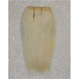 "mohair weft coarse Platinum blonde 613 straight 7-9 x 190"" 90-100 25680 FP"