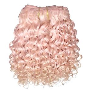 "Light Pink curly mohair weft coarse 6- 8"" x 50"" 25779 QP"