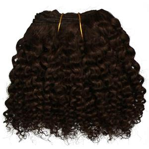 "Dark Brown 3 bebe curl - tight curl - mohair weft coarse  6-8"" x200""  26314  FP"