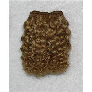 "Golden blonde 16-4 mohair weft coarse curly weft 6-8"" x 50"" 20-25 g 26325 QP"