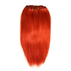 "Orange rust mohair weft coarse straight 7-9 x 200"" 90-100g 25992 FP"