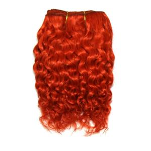 "Orange rust mohair weft coarse curly weft 7-9x200"" 90-100g 25997 FP"