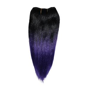 "black/purple tips straight afro weft coarse mohair synthetic mix 6-8"" 26022 HP"
