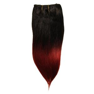 """black/wine tips straight afro weft coarse mohair synthetic mix 6-8"""" 26024 HP"""