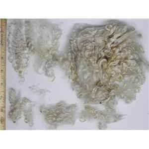 "3-5"" high luster curly washed fine mohair  1 oz doll hair  26174"