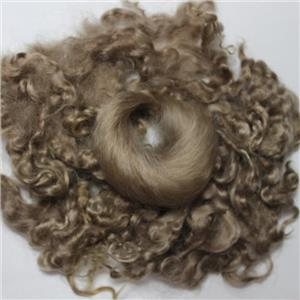 "color 620 blonde fine curly angora goat mohair doll hair 1 oz 3-6"" 26181"