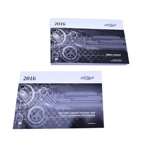 New 2016 Chevy Malibu Limited Owner's Manual Set Assistance Information 23179982