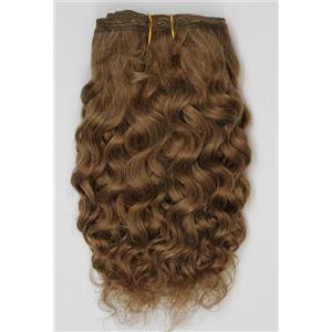 "Warm brown 27 -2  mohair weft coarse curly weft 6-8x 100"" 45-50g 26355 HP"