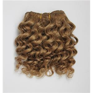 "Strawberry blonde  27-2 mohair weft coarse wavy weft 6-8"" x 50"" 20-25 g 26347 QP"