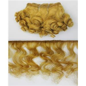 "mohair weft coarse/unglazed Gold 27 Curly hair 4-7x200"" 25625  FP"
