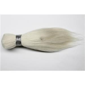 "Goat hair Bulk natural Bleached color 60  4-8"" x 90-100g 25617  FP seconds"
