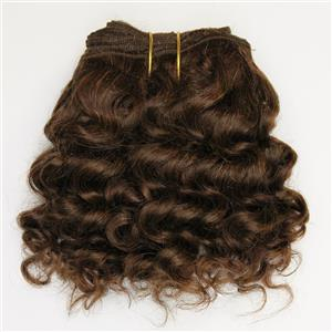 "Brown 6 wavy mohair weft coarse  6-8"" x200""  26639  FP"