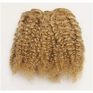 "Blonde 20  bebe curl - tight curl  mohair weft coarse 6- 8"" x 50"" 26392 QP"
