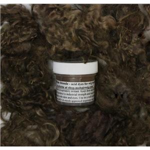 color Deep medium blonde   Wig making dye Jar,will Dye 5 lb mohair