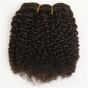 "Dark Brown 2  bebe curl tight curl - mohair weft coarse 7-8"" x200"" 26474 FP"