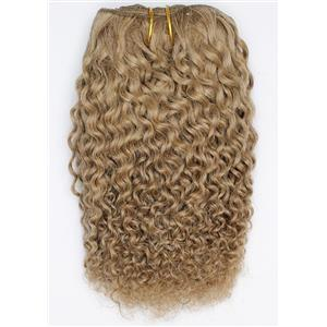 "golden ash blonde 16D bebe curl tight curl mohair weft coarse 8""x200"" 26279 FP"