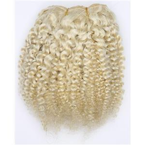 "undyed color 60 bebe curl tight curl - mohair weft coarse 7-8"" x200"" 26513 FP"