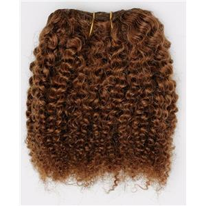 "Auburn # 30 bebe curl - tight curl - mohair weft coarse 7-8"" x100"" 26538 HP"