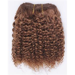"Light auburn # 10 bebe curl tight curl - mohair weft coarse 7-8"" x200"" 26546 FP"