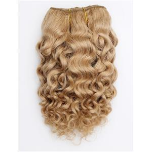 """Light strawberry blonde 24 Curly mohair weft coarse 7- 8"""" x 50""""  26593 QP"""