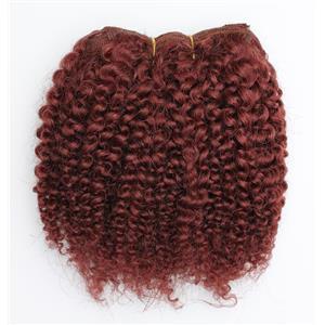 "Dark auburn red #33 bebe curl - mohair weft coarse 7-8"" x100"" 26595 HP"