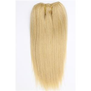 "light golden blonde 22  straight mohair weft coarse 7- 8"" x "" 26611 QP"
