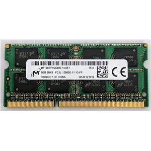 Micron MT16KTF1G64HZ-1G6E1 8GB PC3-12800 DDR3-1600 non-ECC Unbuffered Laptop RAM