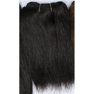 "Dark Brown 2  straight yaki  mohair weft coarse  7-8"" x200""  26  FP"
