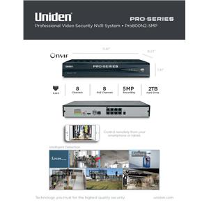 1080p 5MP Pro Series Security System NVR 8-Channel PoE w/ 2TB Surveillance HDD