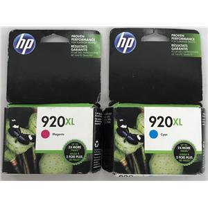 HP 920XL Cyan and Magenta Officejet Ink Cartridge CD972AN, CD973AN