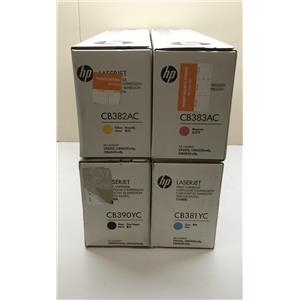 HP Set of CP6015 Black/Yellow/Magenta/Cyan CB390YC,CB381AC, CB382AC, CB383AC
