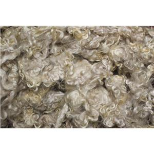 """Mohair washed adult Natural white with some gray streaks  curls 3-6"""" 3 oz 26649"""