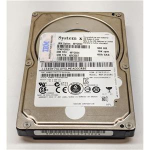 "IBM 600GB 10K 6Gbps 2.5"" SAS Hot Plug 49Y2003 49Y2007 49Y2004 No Tray"