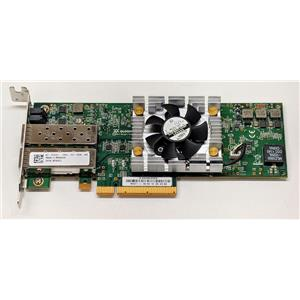 Dell Dual-Port QLE8262L PCI Express x8 Network Adapter PW4FJ Low Profile no SFPS