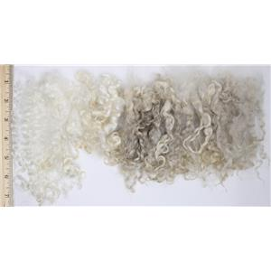 "Mohair raw white kid curls 1 oz  4-7"" wig root or spin  26665"