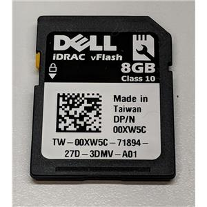 Dell 0XW5C 8GB vFLASH SD Card for iDRAC6 PowerEdge R310 R410 R510 R610 R710