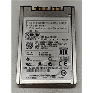 "Dell X812M MK1629GSGF 1.8"" uSATA 160GB 5400 Toshiba Laptop HDD Latitude E6400"