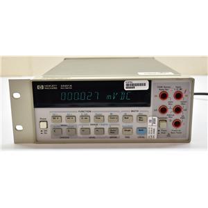 HP Agilent Keysight 34401A 6.5 Digit Digital Multimeter Powers On