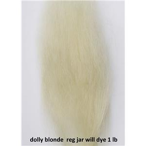 pale yellow / dolly blonde Wig making dye Jar ,Dyes 1 lb mohair