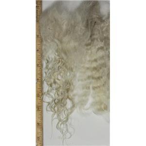 mohair combed to dye, white fine silky adult angora goat 6-11' 1 oz 26756