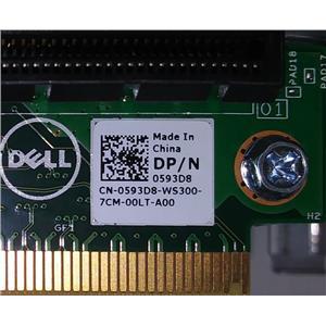 OEM Dell 593D8 Poweredge R230 R330 Riser Card Board w/Bracket 0593D8