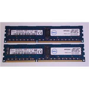 Lot of 2 Hynix 8GB HMT41GR7BFR8A PC3L-12800R ECC Registered RDIMM SNPPKCG9C/8G