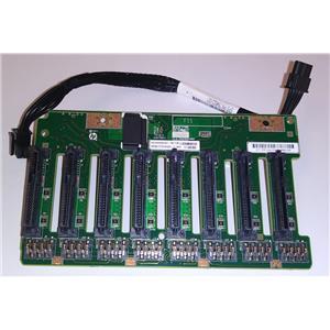"HPE DL380 G9 2.5"" 8 Bay SAS/SATA Backplane w/ Power Cable 777279-001 729820-001"