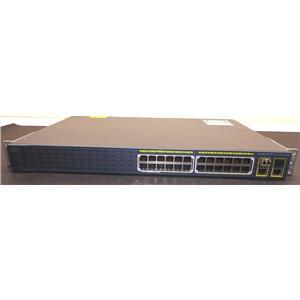 Cisco Catalyst 2960 24 Port PoE Switch  WS-C2960-24PC-S V07 w/ Rack Ears