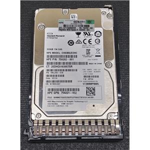 "HP 759221-002 300GB 15K 2.5"" SAS HDD 6GB/s ST300MP0005 w/ Tray"