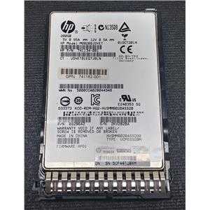 "HP 741162-001 200GB 2.5"" SSD 12Gb/s SAS HUSMM8020ASS200 741134-001 w/ Tray"