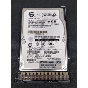 """HP 652566-002 450GB 2.5"""" 6Gb/s SAS 10K HDD EG0450FBLSF 641552-002 w/ Tray"""